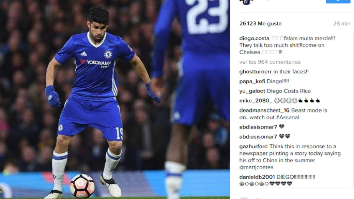 Diego Costa Responds To Rumours Of Chelsea Move On Instagram As Com