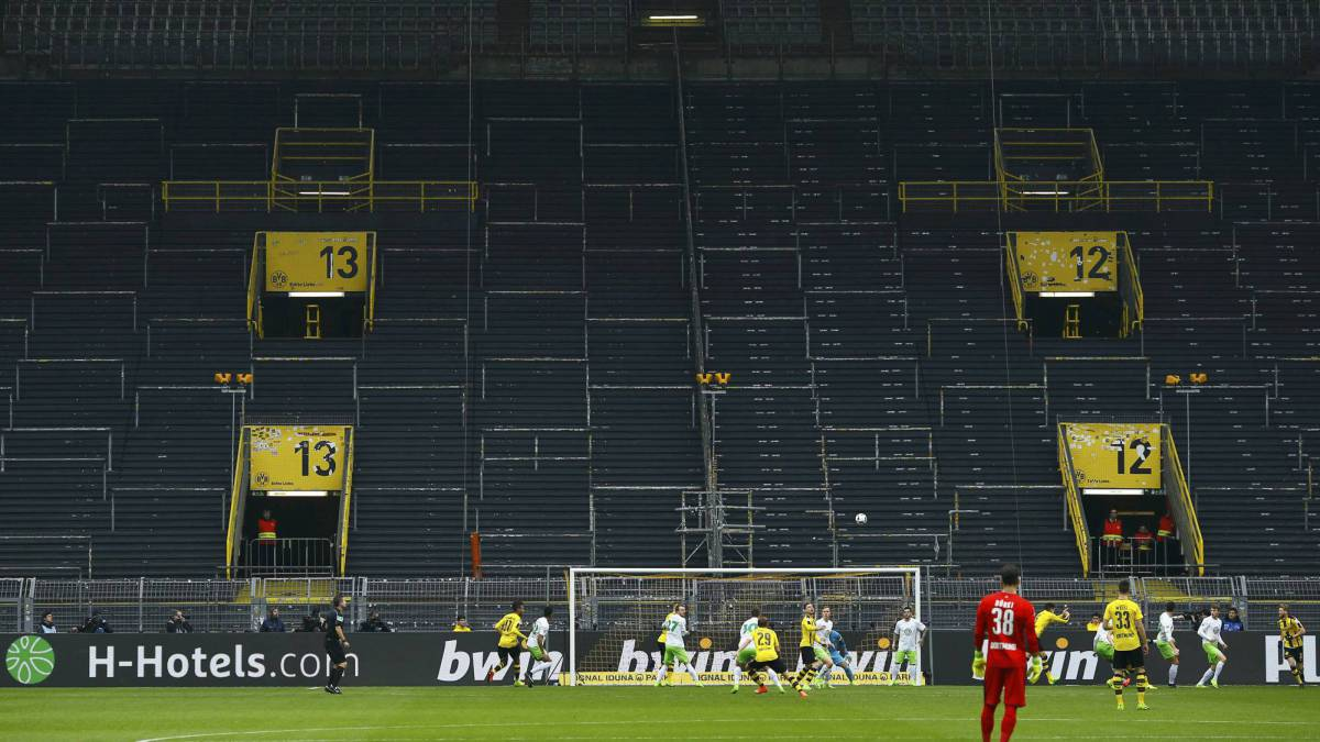 Eerie Sight Of Dortmund S Famous Yellow Wall Closed For Business As Com