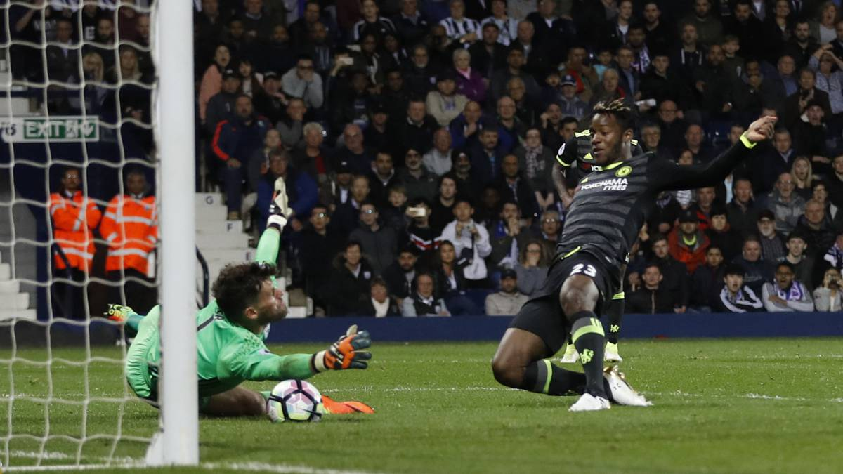 West Brom 0 1 Chelsea Premier League Champions Match Report Chelsea Win The League With Late Batshuayi Goal As Com