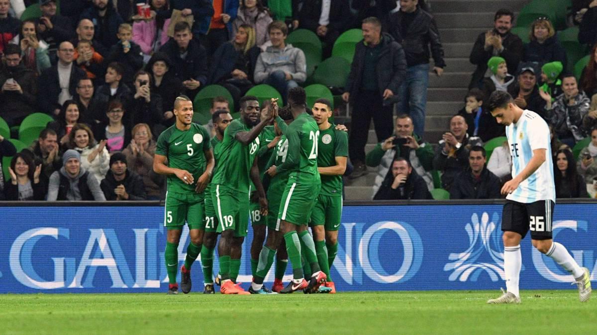 Argentina 2 4 Nigeria World Cup 2018 Friendly Match Match Report Goals Action As Com