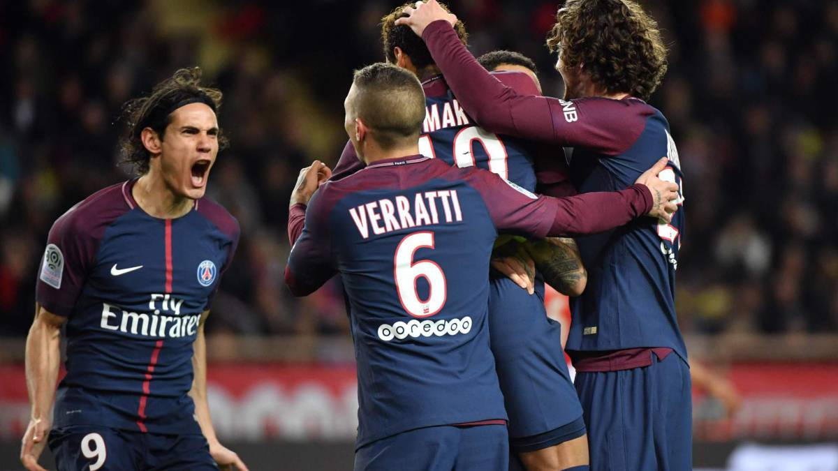 Psg Win In Monaco And Move Nine Points Clear In Ligue 1 As Com