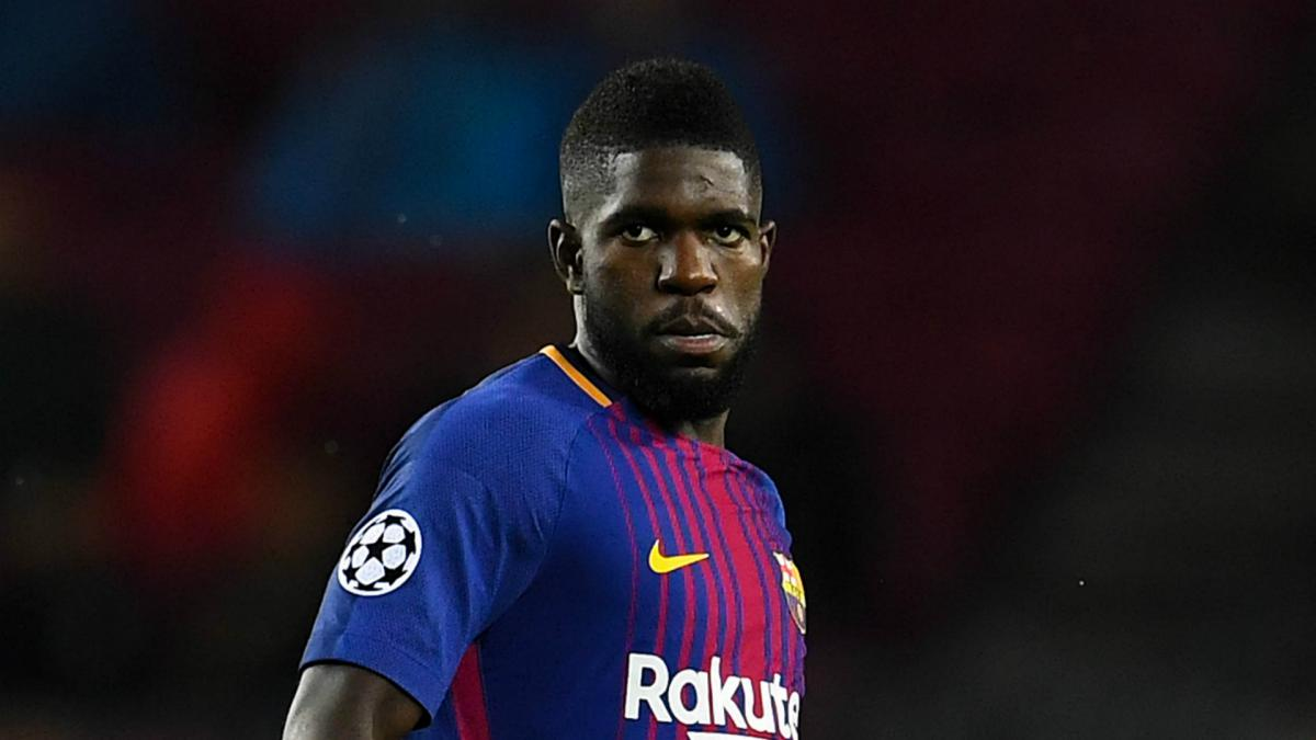 super popular a0776 28ab4 Umtiti returns to Barcelona training as Coutinho meets new ...