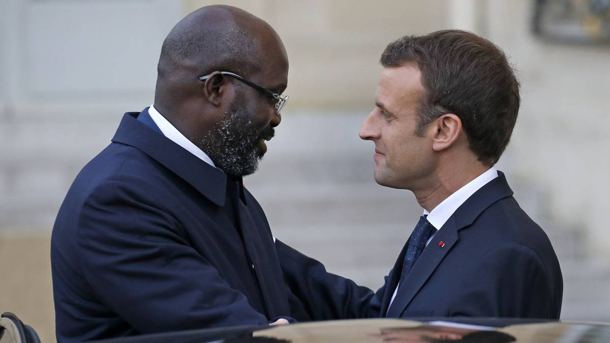 Emmanuel Macron Hosts Meeting With Weah Drogba And Mbappe As Com