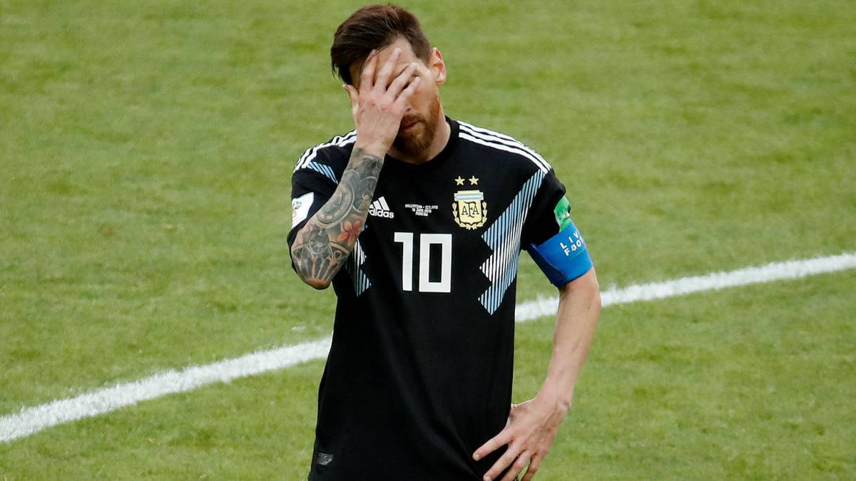 separation shoes bf038 78575 Messi the first to miss a penalty at 2018 World Cup Russia ...