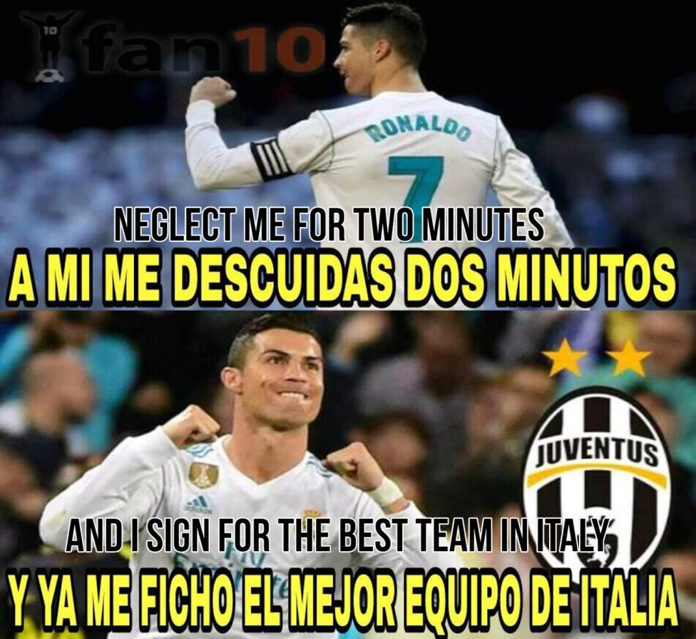 Real Madrid Best Memes On Cristiano Ronaldo S Move To Juventus As Com