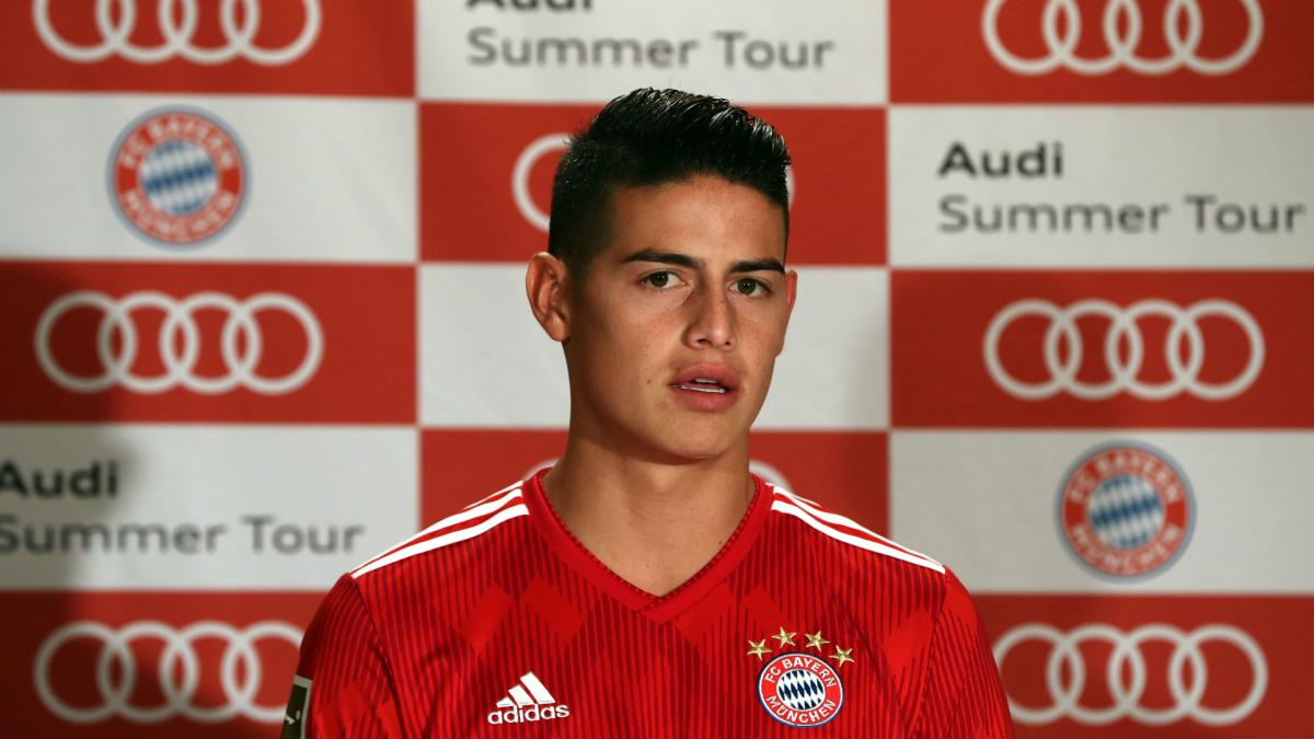 best sneakers 089b7 22d71 James Rodriguez open to joining Bayern permanently - AS.com