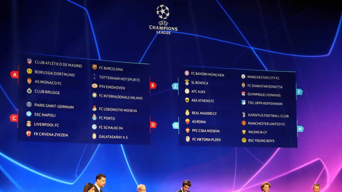 Uefa Champions League 2018 19 Groups