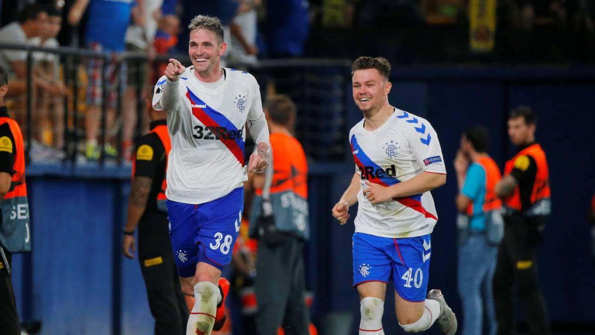 Programme Villarreal v Rangers Scotland 2018 Europa League