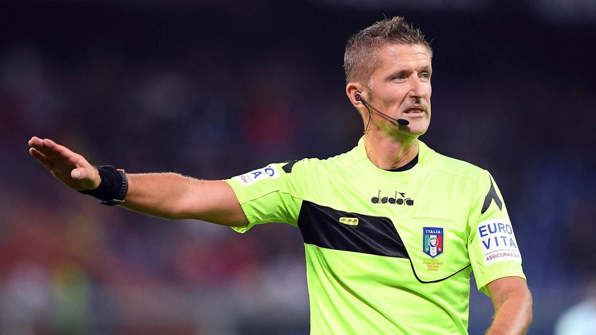 Wasit laga Juventus vs AC Milan pada semifinal Coppa Italia 2019-2020 nanti, Daniele Orsato.