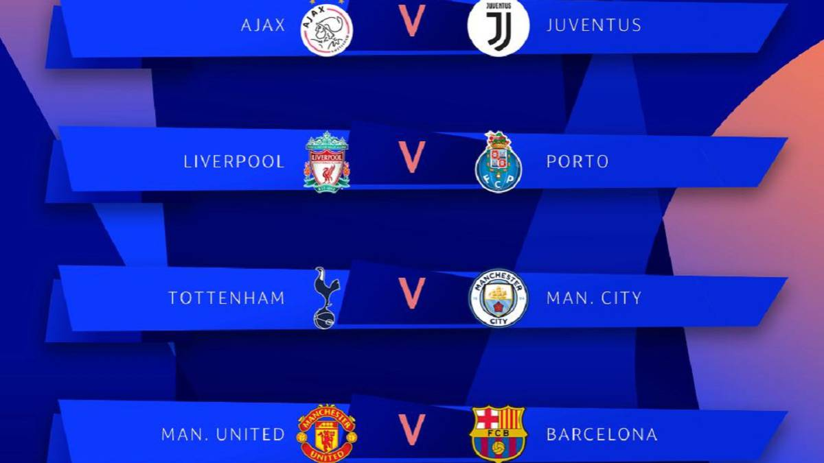 Dates And Times For Champions League Quarter Finals As Com