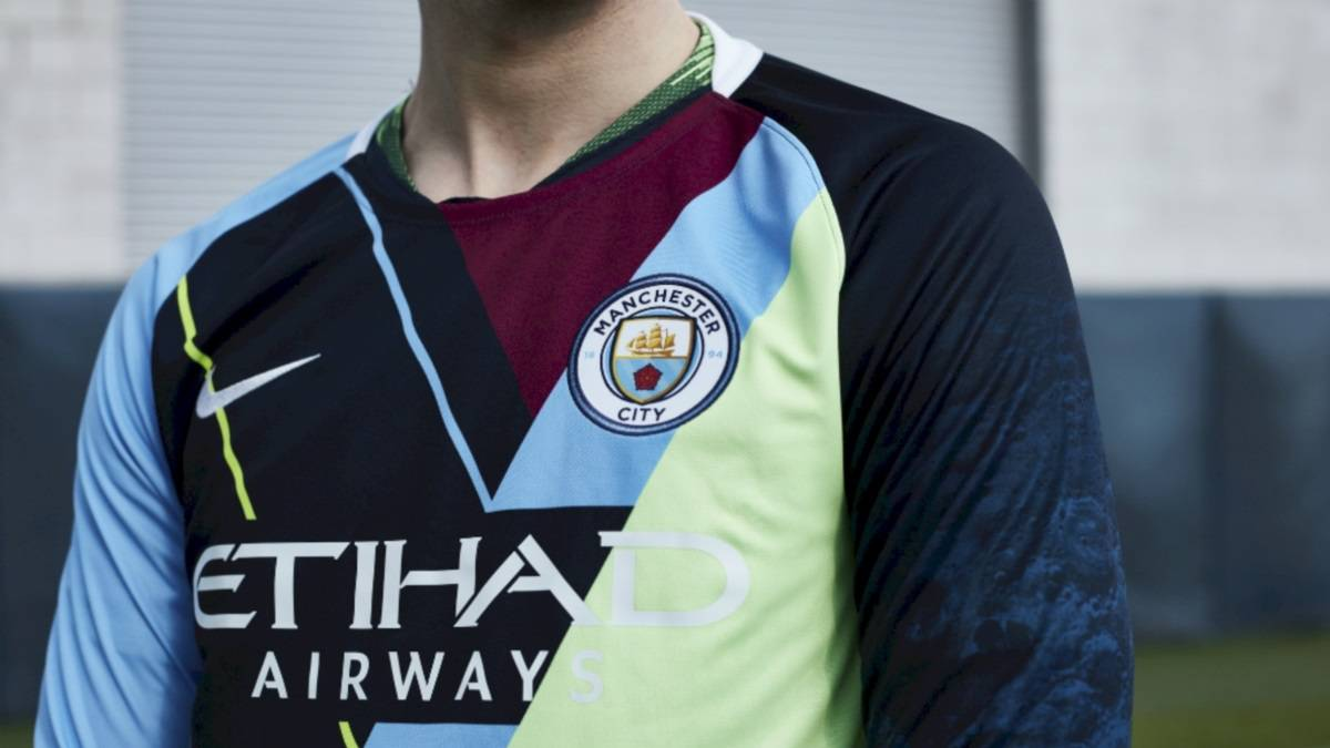 newest 8da81 a8b6a Man City launch 'mash-up' kit and social media outrage ...