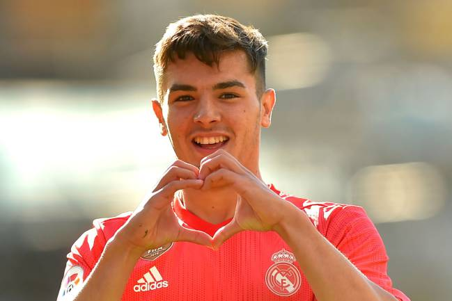 A new heart | Real Madrid's Spanish midfielder Brahim Diaz celebrates after scoring against Real Sociedad.