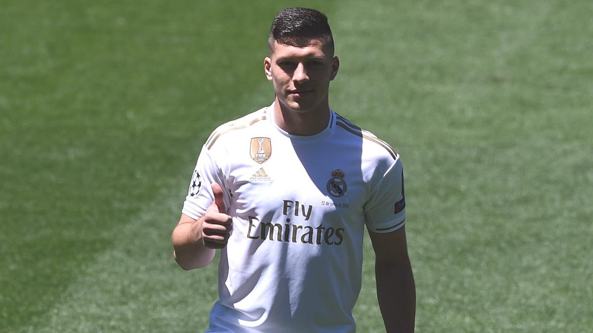 Real Madrid's Luka Jovic is the