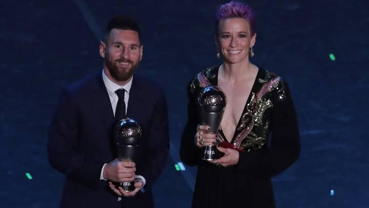 Fifa World Cup Awards 2020.The Best Fifa Awards 2019 Messi Rapinoe Win World Player