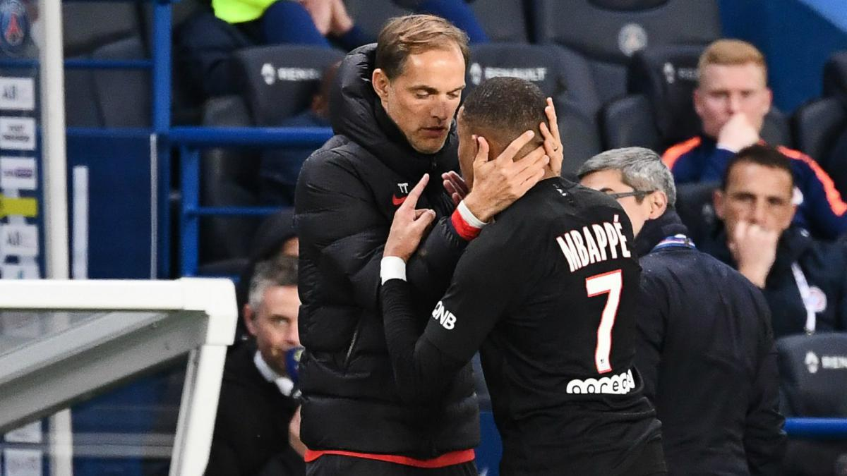 Tuchel refuses to rule out Mbappé punishment after touch-line stand-off -  AS.com