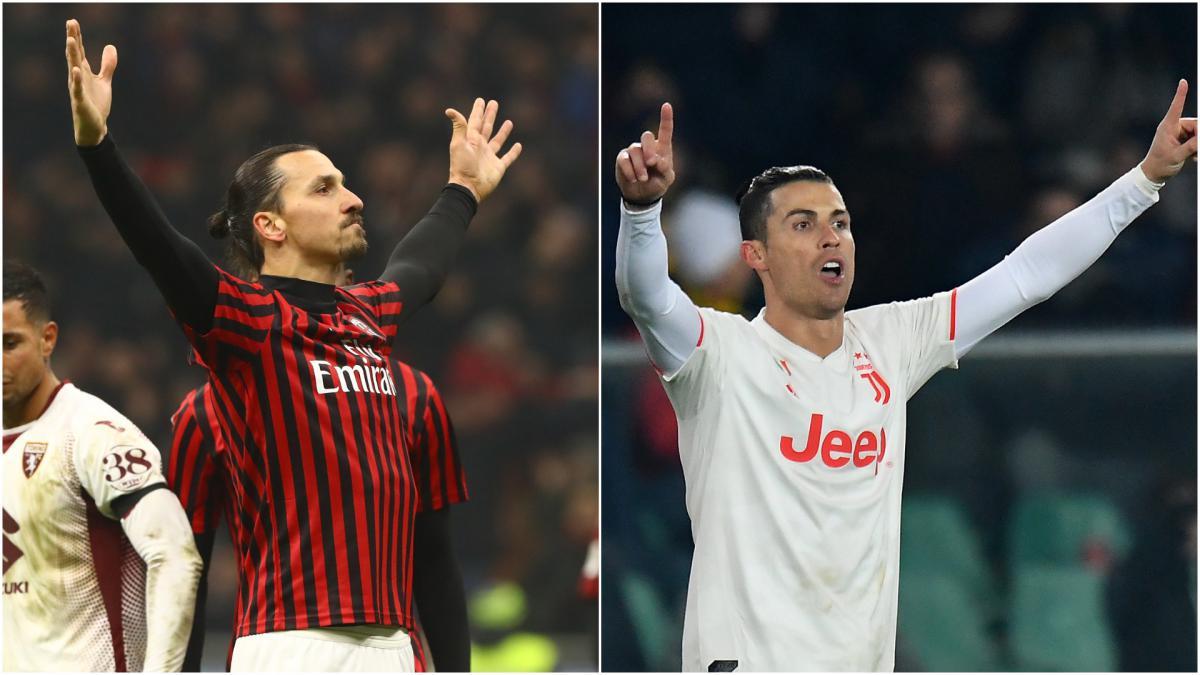 Milan Vs Juventus Ibrahimovic Ronaldo S Head To Head History As Com