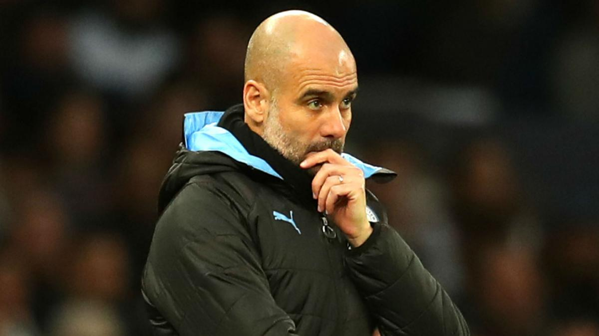 Image result for pic of guardiola worried