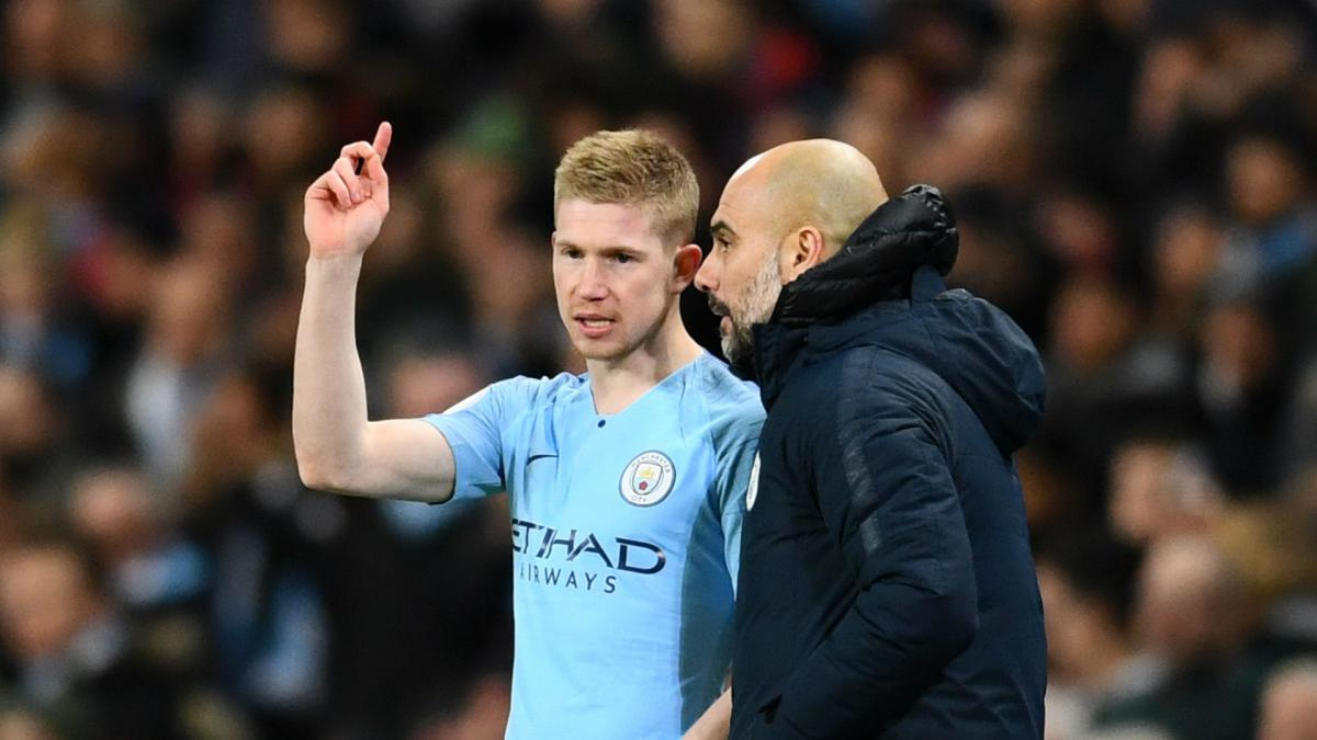 "Guardiola: ""De Bruyne is an exceptional player, he doesn't feel pressure"" - AS.com"
