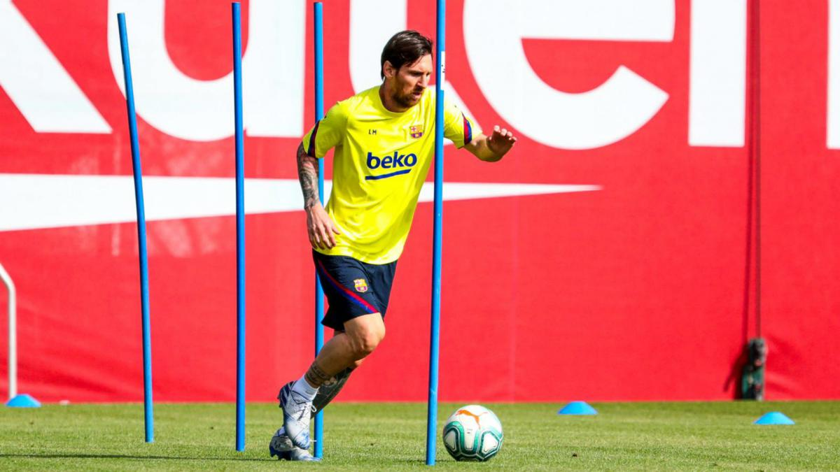 Covid Messi Suarez And Barcelona Team Mates Back In Training