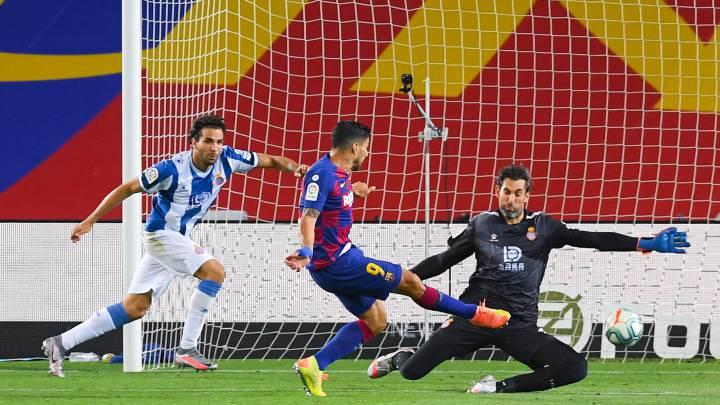LaLiga: Barcelona vence a Espanyol y los manda a segunda, Luis Suárez marcó el único gol del juego