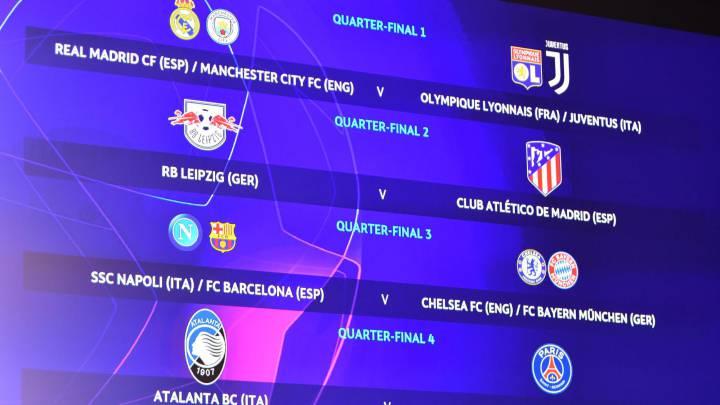 champions league and europa league quarter semi final draws as they happened as com europa league quarter semi final draws