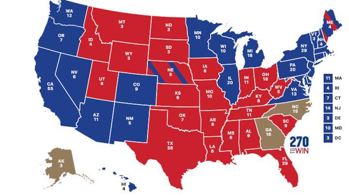 US Presidential Election 2020 by state: Biden vs Trump results map | Biden  wins presidency - AS.com