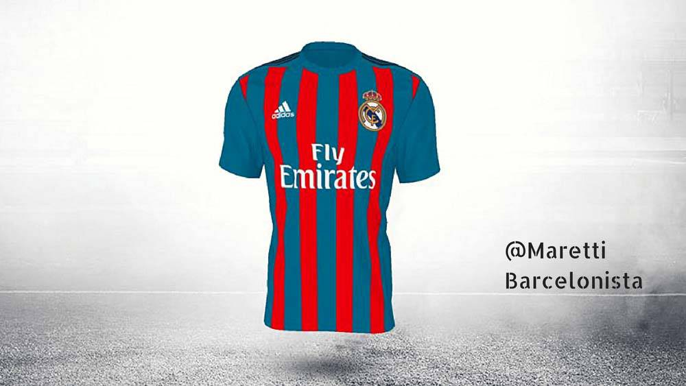 on sale bf5cd a094b Real Madrid | Barcelona-style Madrid kit leads votes in ...