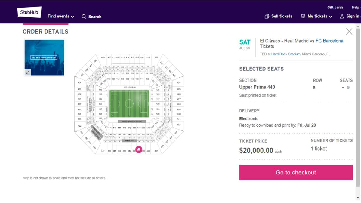 Real Madrid Barcelona Miami Tickets Resale Prices Soaring As Com