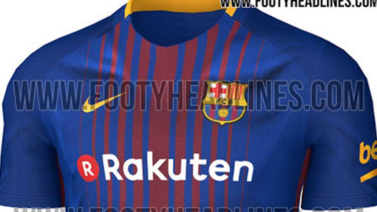 new product 0e242 f1284 Barcelona 2017/18 kit: possible home shirt leaked - AS.com