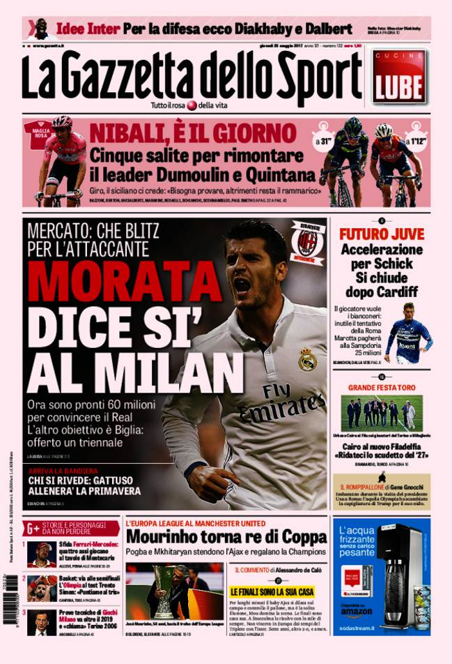 Transfers Real Madrid S Alvaro Morata To Say Yes To Ac Milan Reports As Com