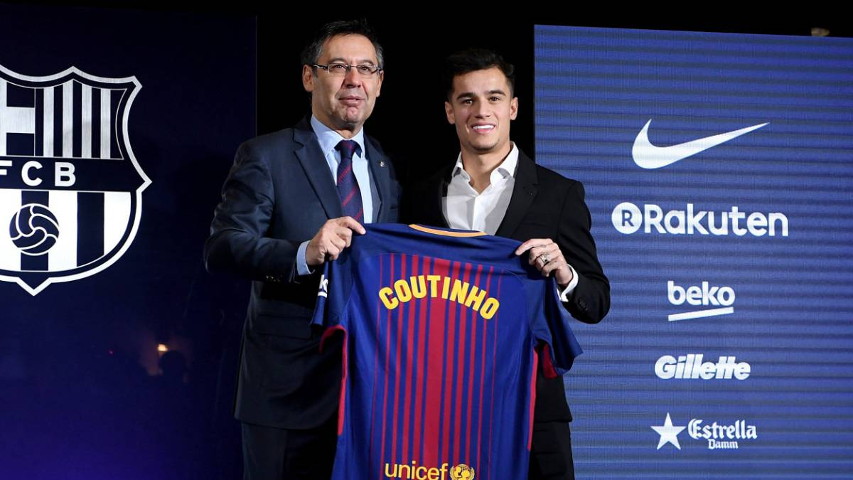 "Bartomeu thanks Coutinho's ""effort, work and patience"" - AS.com"