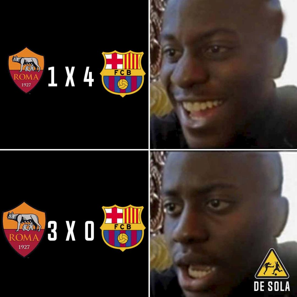 The Best Memes Of Barcelona S Defeat To Roma As Com