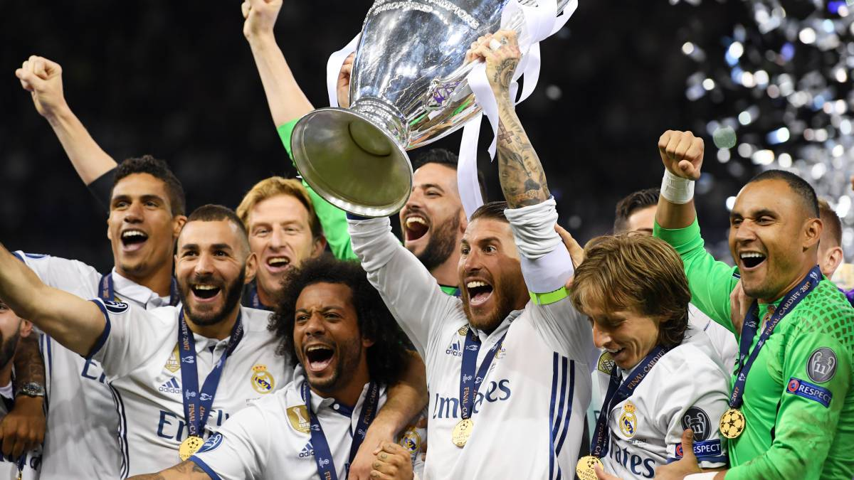 Real Madrid  three consecutive Champions Leagues and four in five seasons 4440996ea210a