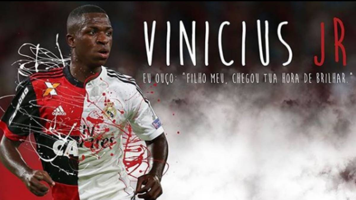 sale retailer f4448 a2909 Happy 18th: Vinicius Junior becomes a Real Madrid player ...