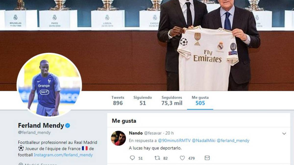 Real Madrid Mendy Likes Tweet Calling For Lucas To Be