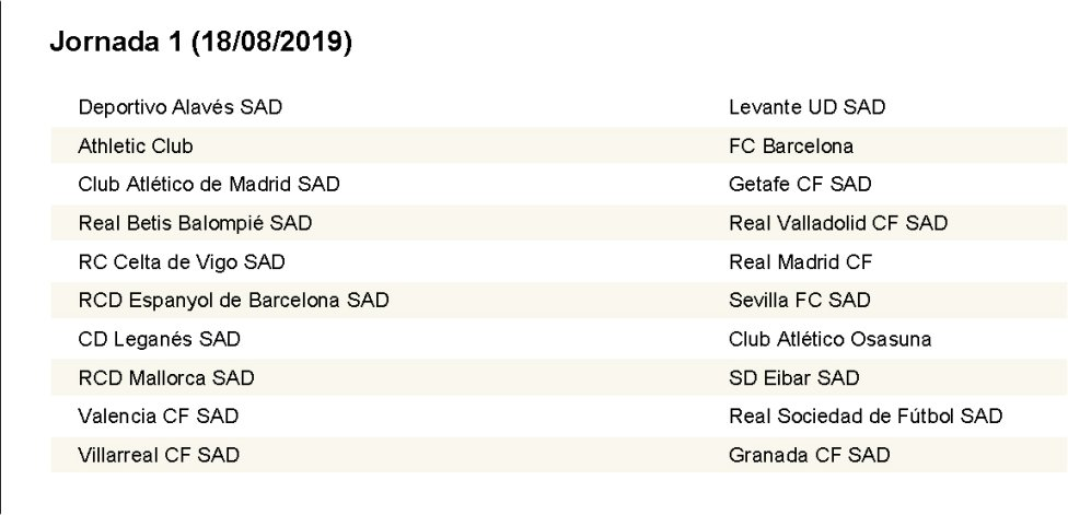 Calendario Liga Futbol 2020.Complete Laliga Fixture List 2019 2020 As Com