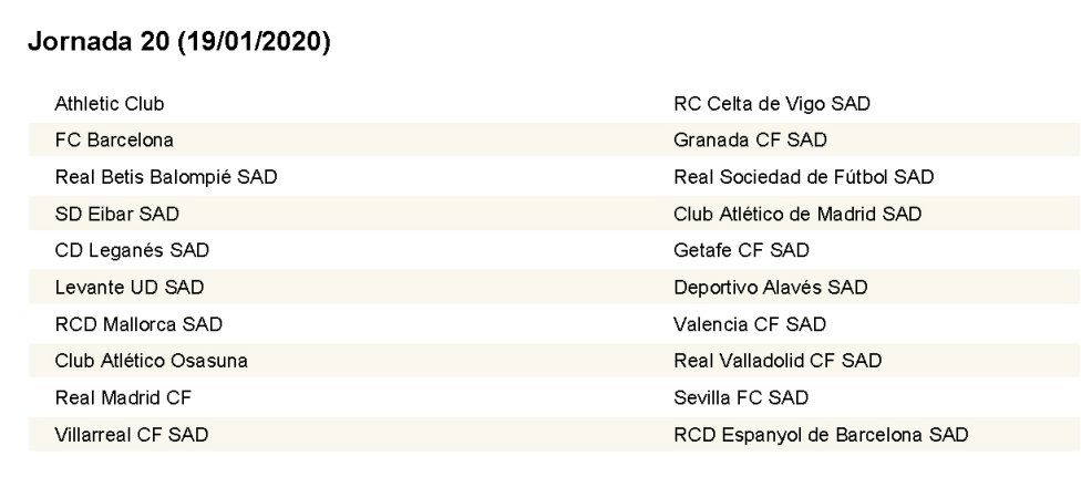 Calendario Sevilla Fc 2020.Complete Laliga Fixture List 2019 2020 As Com