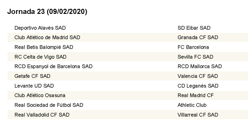 Calendario Betis 2020.Complete Laliga Fixture List 2019 2020 As Com