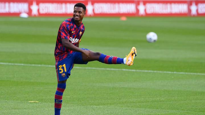 Barcelona: Ansu Fati handed No. 22 shirt and has buy-out clause hiked to 400 million euros - AS.com