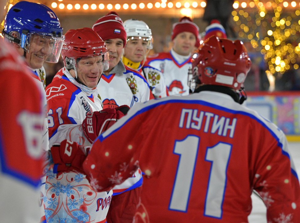 Ice Hockey Vladimir Putin Bags Eight Goals In Annual Ice Hockey Exhibition As Com