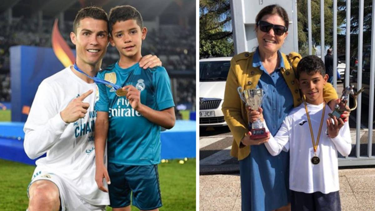 Cristiano Ronaldo Salutes His Son After He Wins School Pichichi As Com
